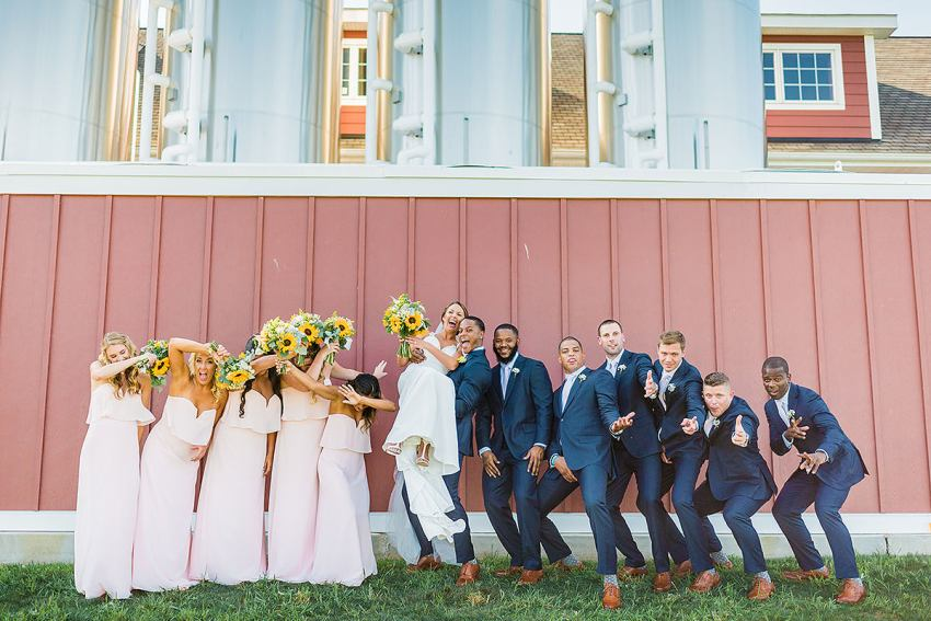 outdoor brewery wedding at wyndridge farm in Pennsylvania by Washington DC Wedding Photographer Adam Mason