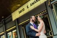movie theatre inspired wedding at the Miracle Theatre by Washington DC Wedding Photographer Adam Mason