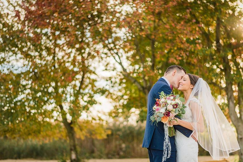 magical fall leaf wedding photos at thousand acre farm wedding by Washington DC Wedding Photographer Adam Mason