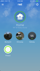 Nest App - Homescreen