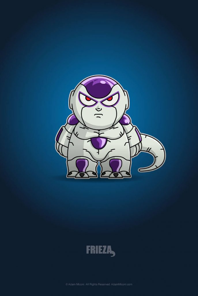 Dragon Ball Z Frieza Chibi by Adam Miconi