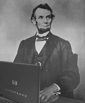 anachronism Lincoln laptop