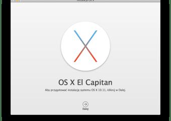 Ponowna instalacja OS X z dysku USB