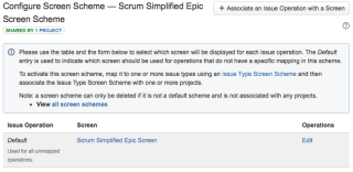 How your Scrum Simplified Epic Screen Scheme should look