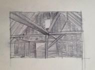 Barn Window Drawing