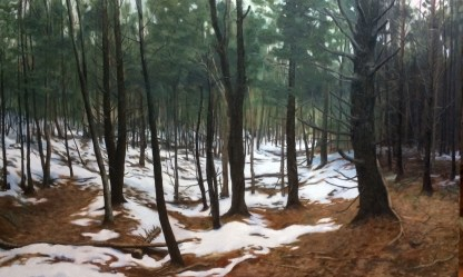 """untitled (woods) : Oil on canvas. 48""""x30"""" 2015 (SOLD)"""
