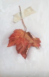 """untitled (leaf study 1) : Oil on board. 6""""x9"""" 2015 (SOLD)"""