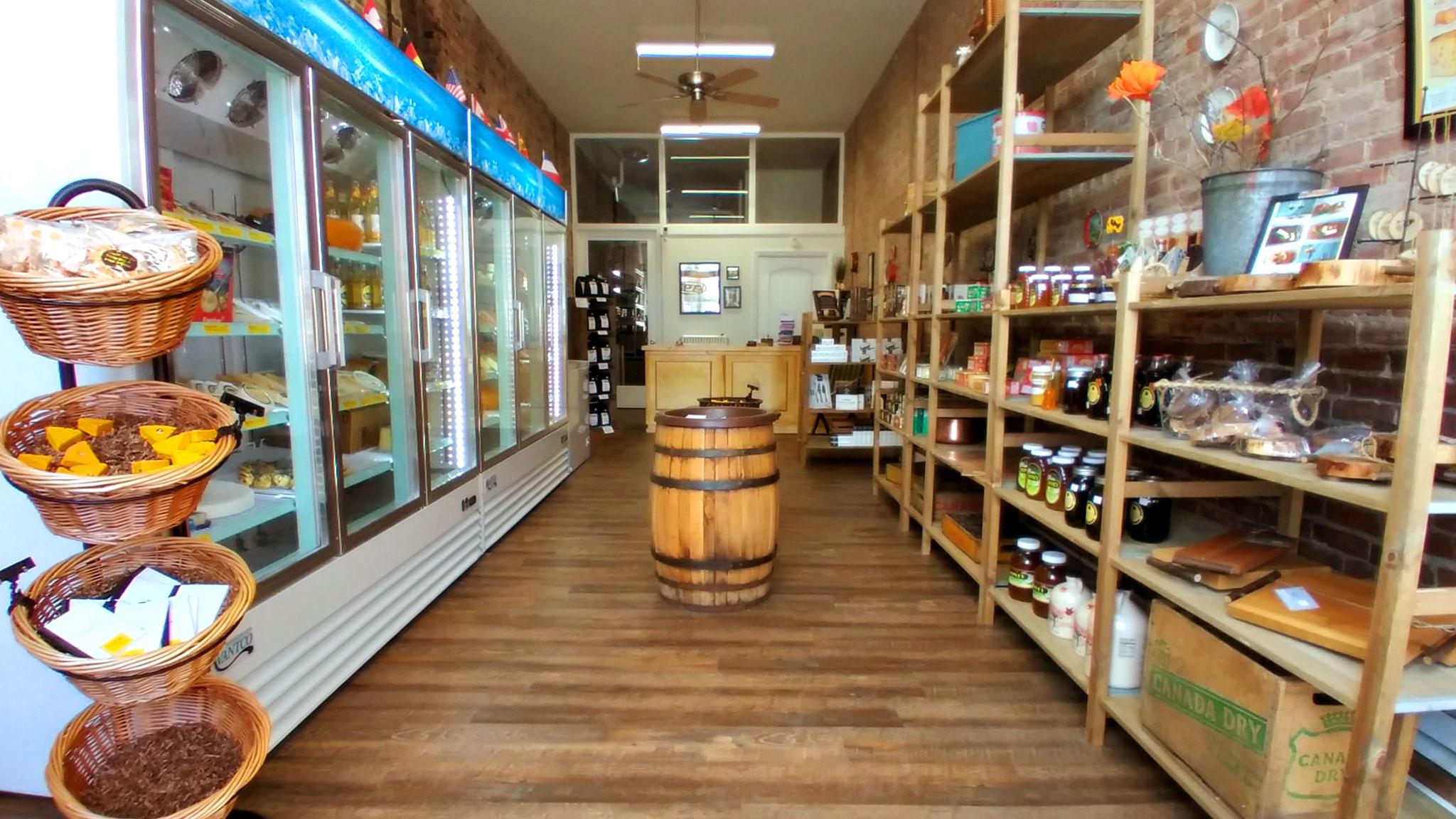 Interior of the cheese shop at 19 Main Street.