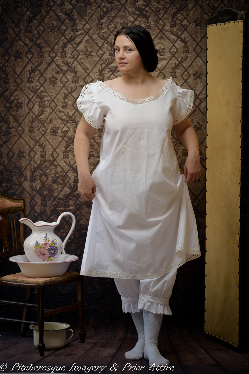 Mid Victorian Undergarments chemise drawers and a