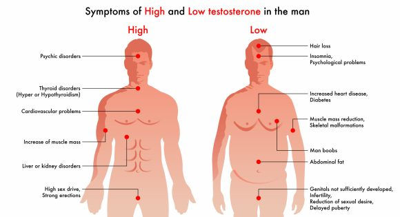 Symptoms of High and Low Testosterone