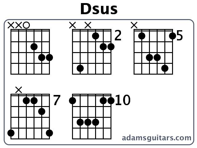 Dsus Guitar Chords from adamsguitars.com