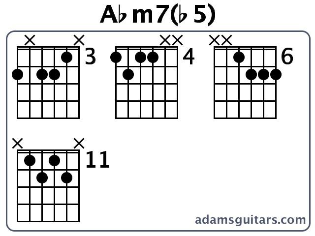 Abm7(b5) Guitar Chords from adamsguitars.com