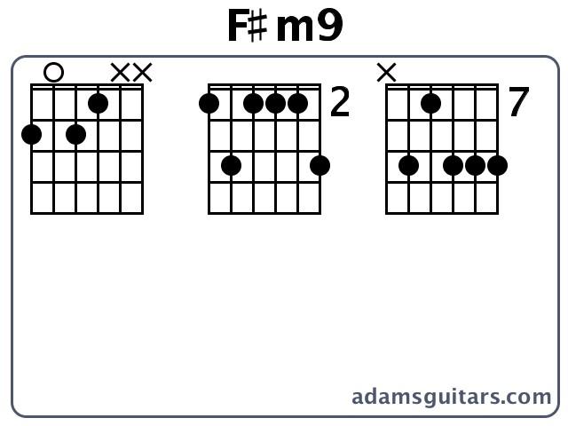 F#m9 Guitar Chords from adamsguitars.com