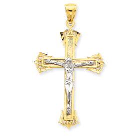 2 tone crucifix 3