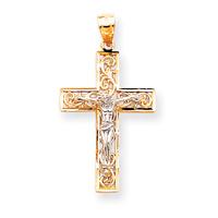 2 tone crucifix C2013