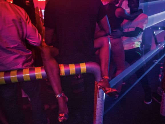 People dance till four A.M. at Quilox nightclub.