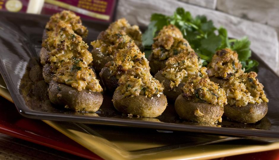 Chorizo & Cheddar Stuffed Mushrooms