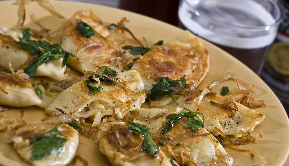 Onion & Cheddar Pierogi
