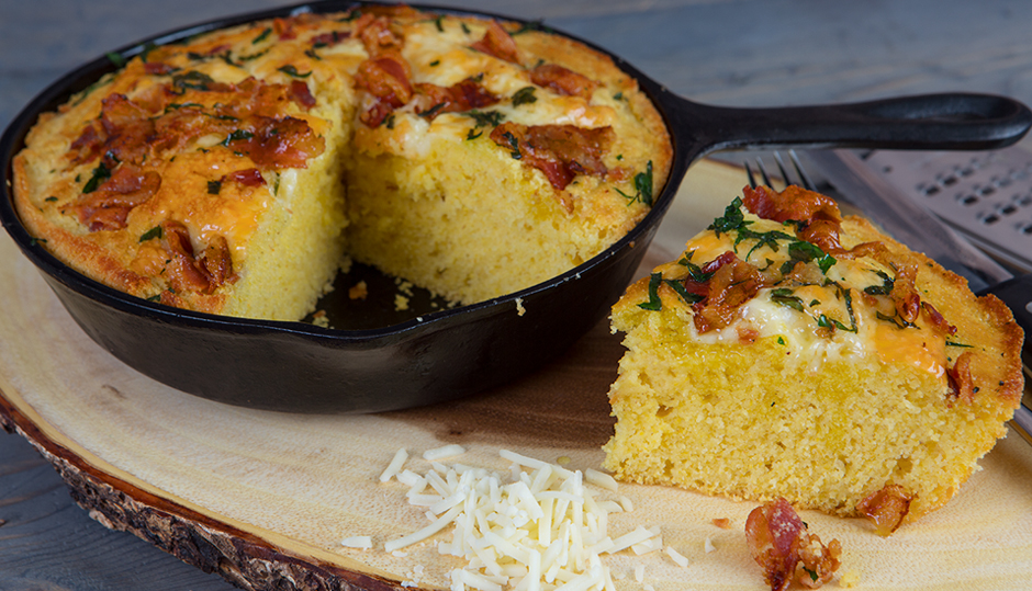 Cheddar & Bacon Corn Bread