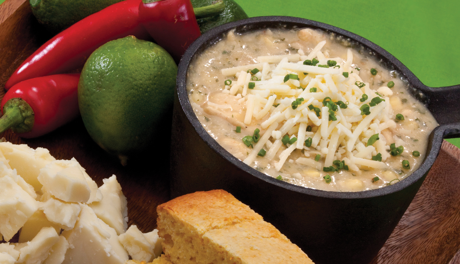 Slow-Cooker Chicken and Cheddar White Chili