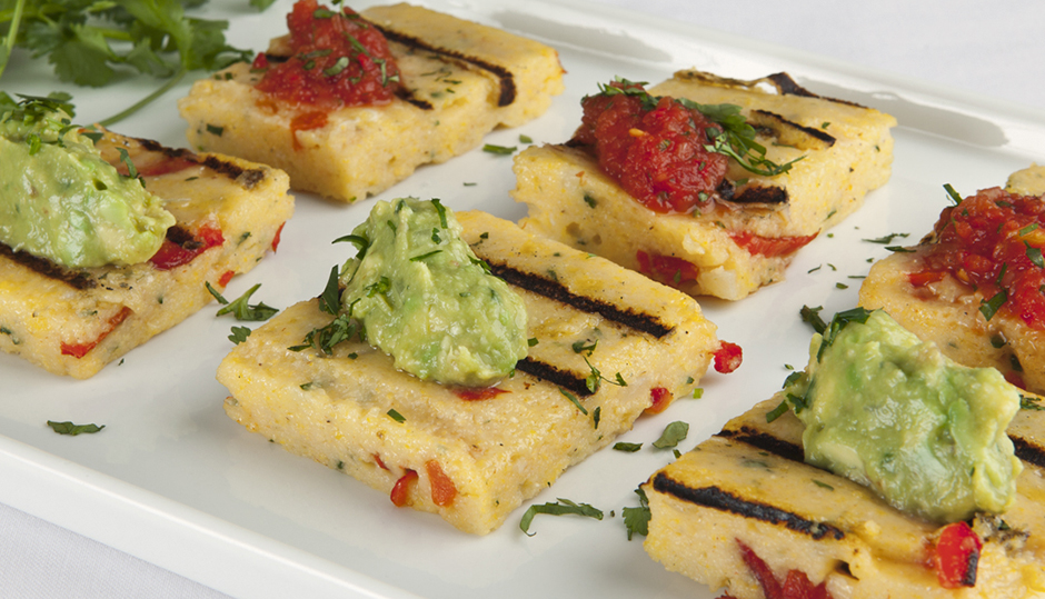 Adams Reserve Cheddar Red Pepper Polenta Cakes