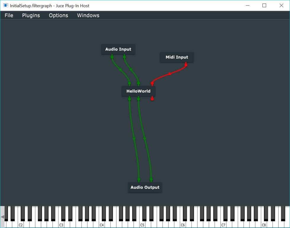 Plugin Host node graph