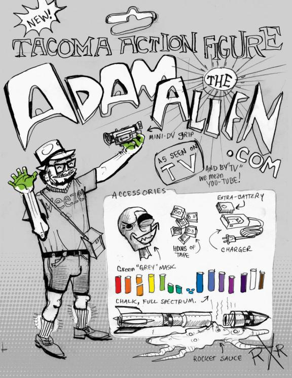 """Tacoma Action Figure: Adam the Alien"" by R.R. Anderson"