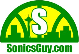 Sonics Guy logo, reversed colors.