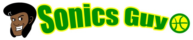 Sonics guy title graphic, used on his business card and website.