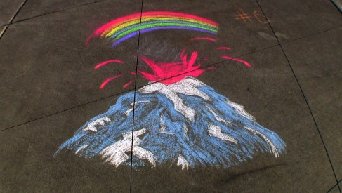 Tacoma Art Museum's Iron Artist Chalk Competition 2012