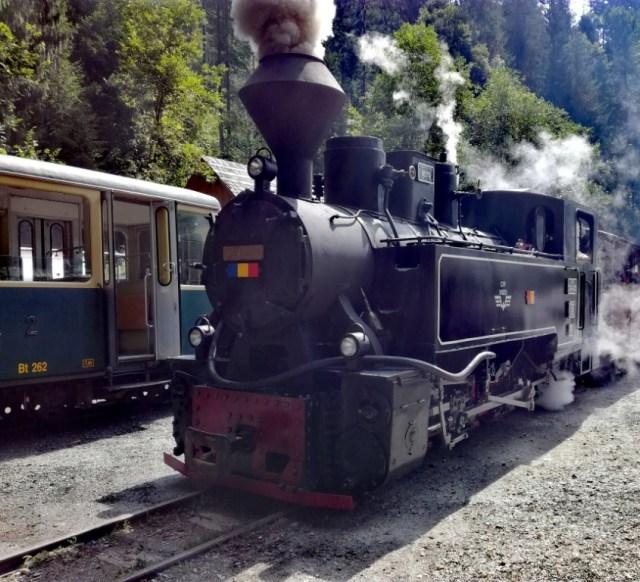 viseu de sus mocanita rumunsko parny vlak lesna zeleznica maramures
