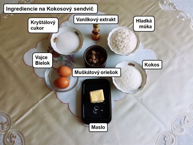 kokosovy sendvic dezert vecera 2. trieda titanic