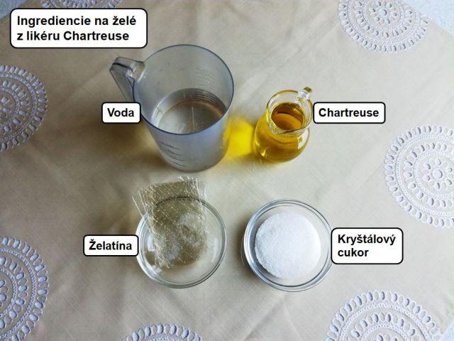 broskyne zele liker chartreuse dezert 1. trieda vecera titanic