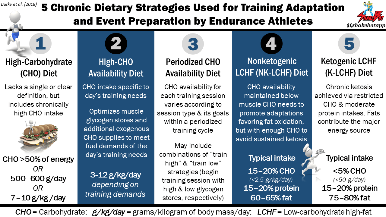 5 Chronic Dietary Strategies Used for Training Adaptation  and Event Preparation by Endurance Athletes