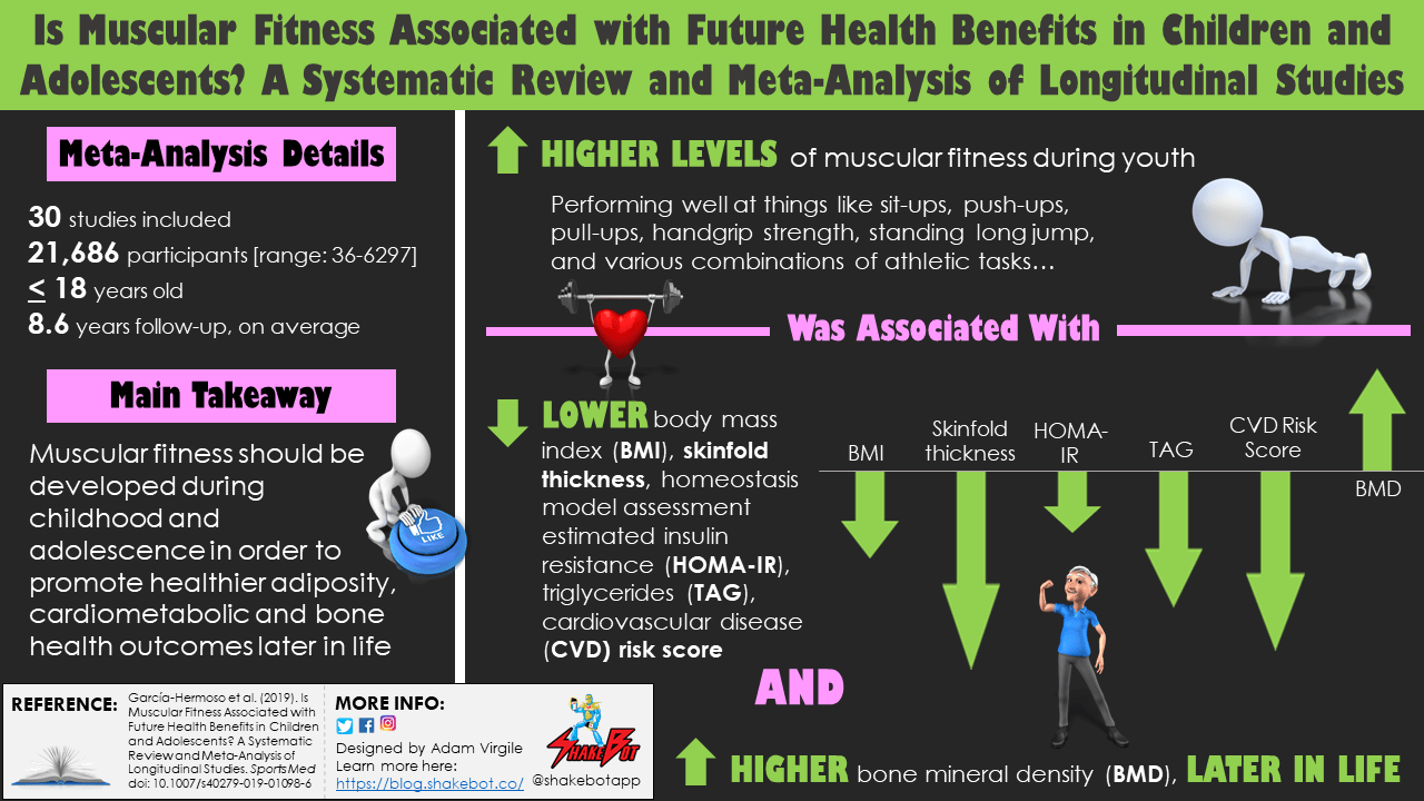 Is Muscular Fitness Associated with Future Health Benefits in Children and Adolescents? A Systematic Review and Meta-Analysis of Longitudinal Studies
