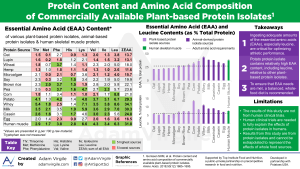 Protein Content and Amino Acid Composition  of Commercially Available Plant-based Protein Isolates