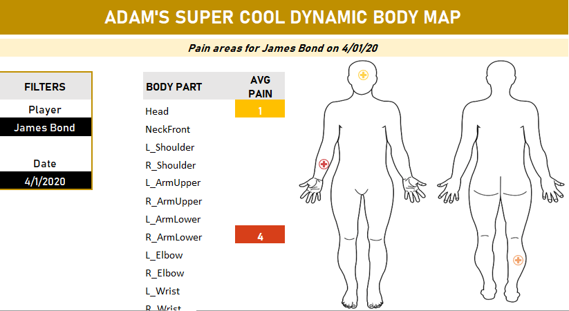 Body Map Dashboard