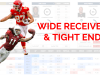 NFL Combine and Game Performance Comparison Tool: Wide Receivers and Tight Ends
