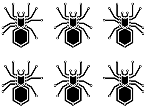 Black Spider Stickers Small
