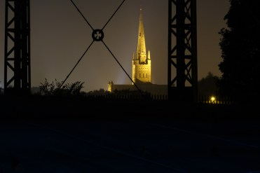 View of Norwich Cathedral...and some palisade fencing.