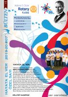 Adana 5 Ocak Rotary Kulübü 2019-20 Bülten- 07 Hayata El Ver Özel bültenİ