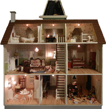 This is the cross-section of the dollhouse
