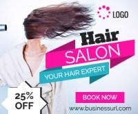 Hair Salon Ad banner template | Online Service Ad Design ...