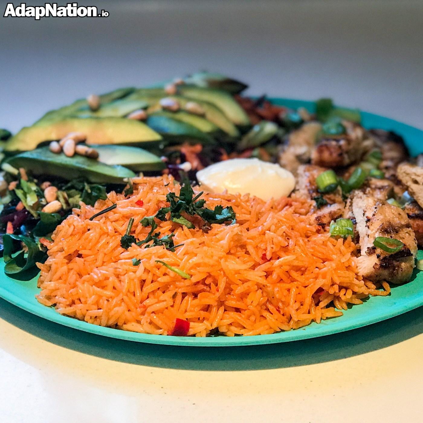 Chilli Rice with Chicken & Avocado Salad