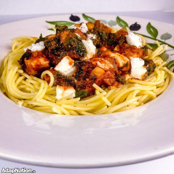 Gluten-Free Chicken & Spinach Spaghetti - Yummy!