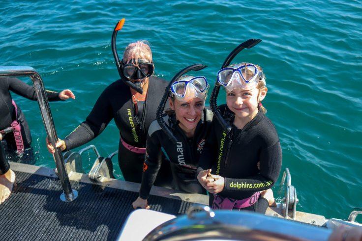 Team Katasi Swimming with Wild Dolphins