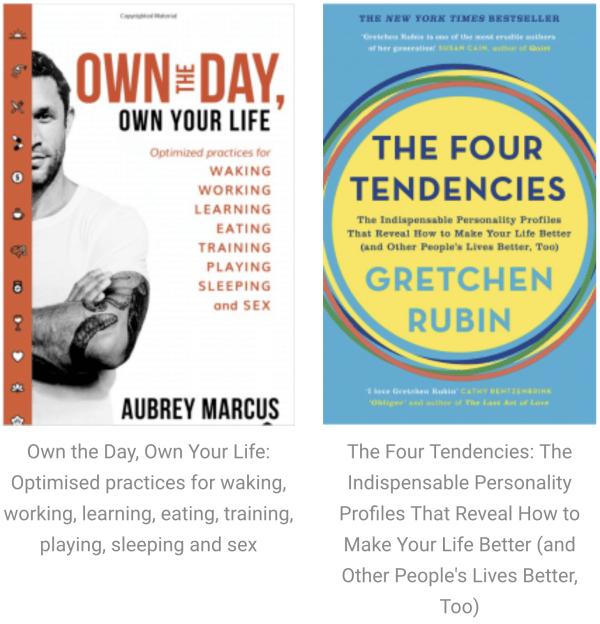 BOOKS: Mindset / Habits / Relationships