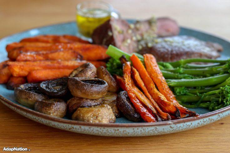 Ostrich Steak, SP Fries, Mushrooms and Superveg p2