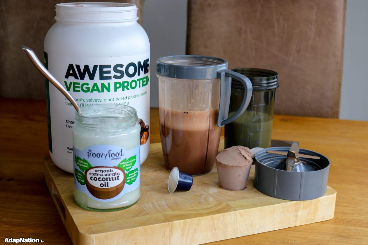 "Steve's ""Awesome"" Morning Fuel - When Vegan Protein, Healthy Oils & Hot Espresso Collide!"