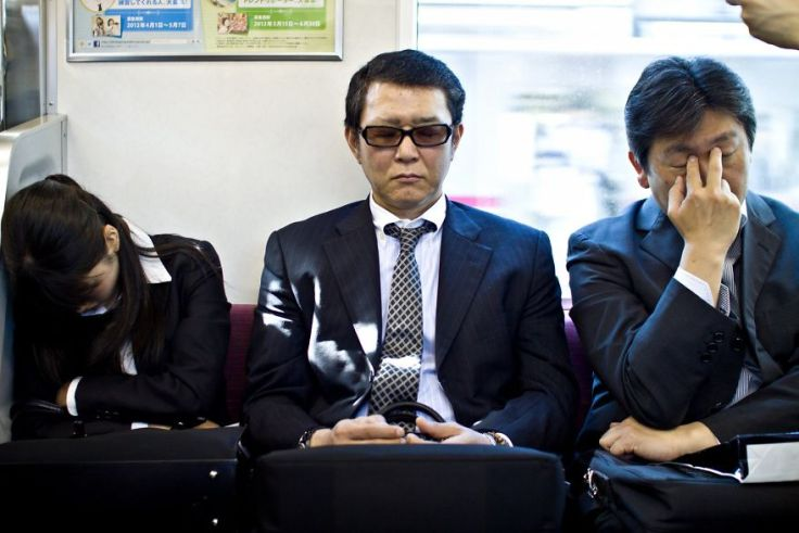 Tired Travelling businessmen